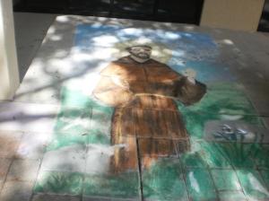 St. Francis Sidewalk Art